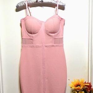 Material Girl Juniors' Illusion Bodycon Dress,